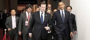 EL PRESIDENTE DE ESPAÑA MARIANO RAJOY Y EL PRESIDENTE DE LOS EEUU BARACK OBAMA EN LA II CUMBRE DE SEGURIDAD NUCLEAR