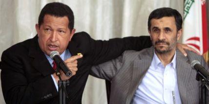 Hugo Chávez y el presidente iraní, Mahmud Ahmadineyad