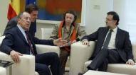 reunión celebrada en España para repasar y buscar una solución a la crisis de Ucrania, con la presencia del Ministro de Asuntos Exteriores ruso, Serguéi Lavrov; el Rey Juan Carlos; la jefa de la diplomacia de la Unión Europea, Catherine Ashton; y el presidente del Gobierno, Mariano Rajoy.-