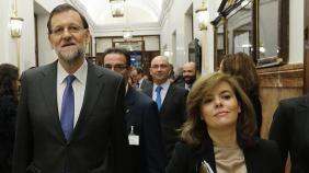 MARIANO RAJOY Y SORAYA SÁENZ DE SANTAMARÍA.-