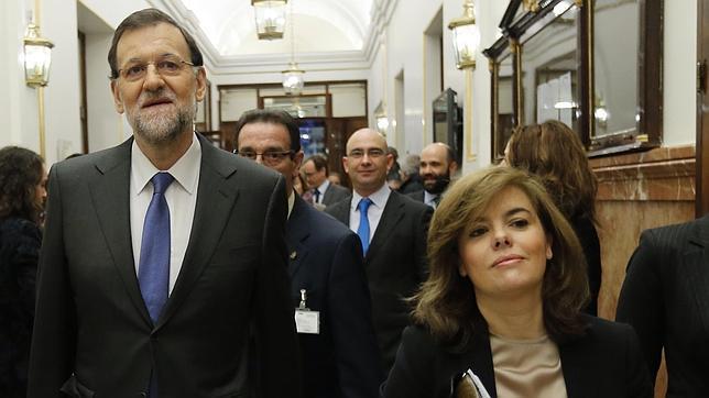 MARIANO RAJOY Y SORAYA SÁENZ DE SANATAMARÍA