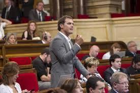 Voto en contra debate Parlamentario Ciudadants POnente, Albert Ribera
