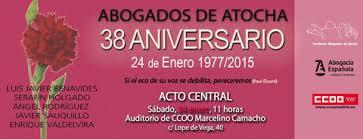 38 Aniversario Abogados de Atocha- Madrid - España- 24 de Enero de 2015.-