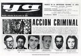 ACCIÓN CRIMINAL CONTRA NUEVE ABOGADOS EN ATOCHA- MADRID- ESPAÑA-24 DE  ENERO 1977