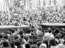 ASESINATO DE LOS ABOGADOS DE ATOCHA 24 DE ENERO DE 1977.- SE AUTORIZA AL PCE A REALIZAR EL ACTO RESPECTIVO!
