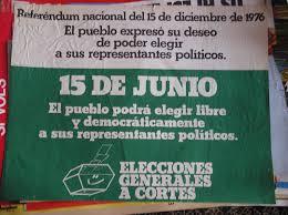 Carteles institucionales de la transición del 15 de junio de 1977