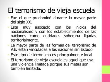 POLITICA-GOBIERNO Y TERRORISMO