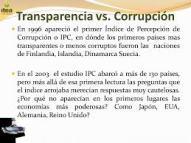 TRANSPARENCIA VS. CORRUPCIÓN