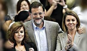 Presidente Mariano Rajoy; Vicepresidenta Soraya Saenz de Santamaría y Secretaria General del PP Maria Dolores de Cospedal.-