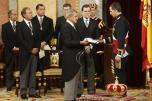 Su Majestad el Rey don Felipe VI ha sido proclamado hoy, jueves, día 19 de junio, ante las Cortes Generales, en una sesión solemne en el Hemiciclo del Congreso de los Diputados, a la que han asistido las principales autoridades del Estado 18 de junio de 2014
