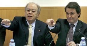Artur-Mas-y-Jordi-Pujol-en-una-imagen-de-2007- En el historial de obras públicas Teyco y Emte figuran muchos concursos pero también obras adjudicadas a dedo, como las que recibió en 2002 y 2003 de Adigsa, la antigua empresa pública gestora de la vivienda social en Cataluña, o en el Hospital de Sant Pau de Barcelona, según denunció en un informe la Sindicatura de Comptes