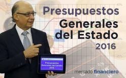 Presentación de los Presupuestos Generales del Estado para 2016 por el Ministro de Hacienda Cristóbal Montoro
