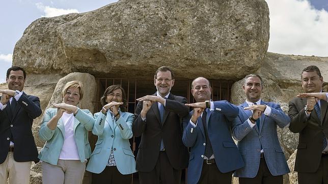 El presidente del Gobierno, Mariano Rajoy, en Antequera