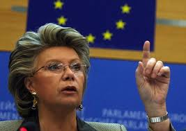 La comisaria europea de Justicia y Derechos Fundamentales, VIVIANE REDING,