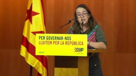 """Las Candidaturas de Unidad Popular (CUP), cuyo papel es clave para formar un gobierno regional en Cataluña, exigen una """"ruptura democrática"""" con España para alcanzar una """"república catalana""""."""