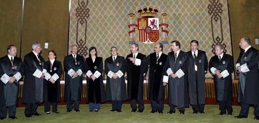 mIEMBROS DEL TRIBUNAL CONSTITUCIONAL DE ESPAÑA QUE OPORTUNAMENTE RESOLVIERAN SOBRE EL 9N