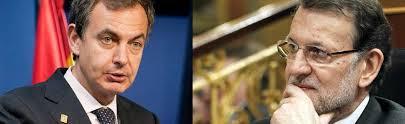 """Ex Presidente Jose Luis Rodriguez Zapatero quién actuara en contra de la Constitución Nacional y de espaldas al pueblo en el tema Cataluña para sumar votos!.- Presidente en funciones (luego del """"20D"""") Mariano Rajoy quién ha defendido y protegido a España y a los españoles con una aplicación efectiva del estado de derecho"""