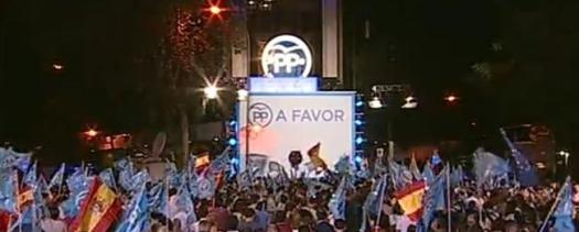 JORNADA ELECTORAL 26J 2016 SEDE DEL PP GENOVA - MADRID