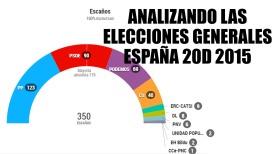 """RESULTADOS FINALES DE LA ELECCIÓN GENERAL DEL """"20D"""" EN ESPAÑA 2015"""