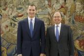 AUDIENCIA DE SM REY FELIPE VI Y PRESIDENTE DEL SENADO PIO ESCUDERO EN ZARUZUELA