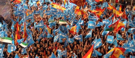FESTEJOS EN LAS CALLES ANDALUZAS ANTE EL TRIUNFO HISTORICO DEL PP - 26J
