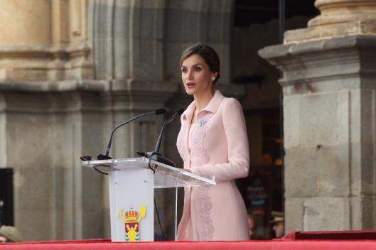 Doña Letizia durante su intervención