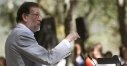 MARIANO RAJOY DURANTE SU INTERVENCION HOY EN LA APERTURA DEL CURSO POLITICO EN LA CARBALLEIRA DE SAN XUSTO