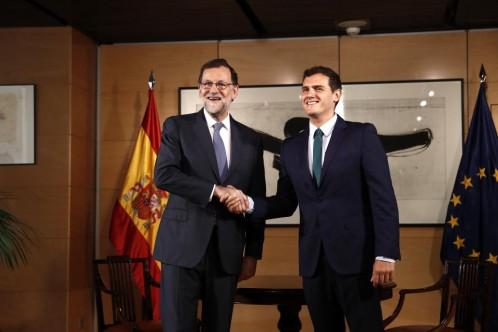 Mariano Rajoy y Albert Rivera, durante la entrevista en el Congreso de los Diputados