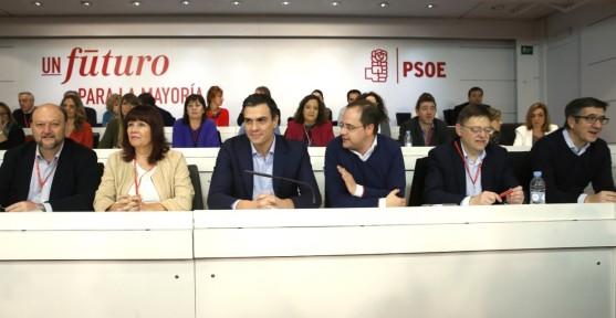 PEDRO SANCHEZ Y LA EJECUTIVA DEL PSOE