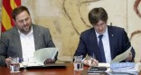 El presidente de la Generalitat, Carles Puigdemont, junto Oriol Junqueras durante la última reunión ordinaria antes de las vacaciones de verano Leer más: Puigdemont y sus consellers reciben personalmente la advertencia de TC http://www.larazon.es/espana/los-miembros-del-govern-reciben-personalmente-la-advertencia-de-tc-FH13275462?sky=Sky-Julio-2016#Ttt1Kc2VlvMUQ3Sf Convierte a tus clientes en tus mejores vendedores: http://www.referion.com
