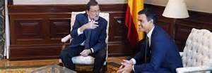 """Reunión en el Congreso de los Diputados previas a la Investidura Presidencial (30/de Agosto, 2 de Setiembre).- Rajoy, ofreción """"un gobierno de coalición"""" conforme el abanico Parlamentario que surgiera de las elecciones del """"20D"""".- Sin embargo, el bloqueo politico con el que juega peligrosamente Pedro Sánchez y """"su Psoe"""" y su no, no , y no injustificadamente, ha generado que españa hoy se encuentre aún """"en funciones""""; como su Gobierno.- Pedro Sánchez debe recapcitar seriamente.- Es el mayor responsable de la situación existente.-"""