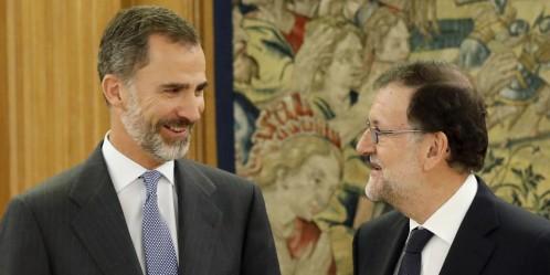 """25 de Octubre de 2016: El presidente del Gobierno en funciones, Mariano Rajoy, ha aceptado la propuesta del Rey de someterse a la confianza de la Cámara en una nueva sesión de investidura. ("""" Rajoy acepta el encargo del Rey de someterse a la investidura"""" http://www.larazon.es/espana/rajoy-pone-fin-a-la-ronda-de-contactos-con-el-rey-CK13801726?sky=Sky-Octubre-2016#Ttt1BChuGT1n4P2Y"""