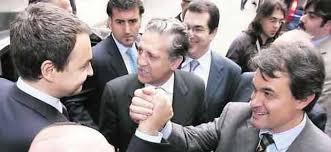 JOSE LUIS RODRIGUEZ ZAPATERO EN ESE ENTONCES PRESIDENTE DE ESPAÑA Y ARTUR MAS