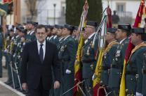 El presidente del Gobierno, Mariano Rajoy, pasa revista a la formación en la Academia de Guardias y Suboficiales de Guardia Civil en Baeza, Jaén. Baeza (Jaén) - 17/12/2016 http://www.lamoncloa.gob.es/multimedia/galeriasfotograficas/presidente/Paginas/2016/171216baeza.aspx