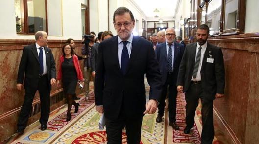 Spanish PM Rajoy arrives at Spanish parliament in Madrid  Spain