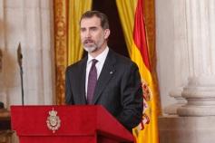 © Casa de S.M. el Rey Su Majestad el Rey, durante sus palabras. Palacio Real de Madrid, 30.01.2017http://www.casareal.es/ES/Actividades/Paginas/actividades_actividades_detalle.aspx?data=13044
