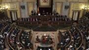"""IMAGEN DEL CONGRESO DE LOS DIPUTADOS, XII LEGISLATURA DURANTE LAS PALABRAS DIRIGIDAS AL HEMICICLO POR NUESTRO JEFE DE ESTADO, SM REY FELIPE VI, AL INICIO DE LAS MISMAS, 17 DE NOVIEMBRE DE 2016:...""""Quiero comenzar mis palabras, en esta apertura solemne de la Legislatura, expresando -junto a la Reina- nuestro respeto y reconocimiento a las Cortes Generales. En una Monarquía Parlamentaria, la presencia del Rey en el Parlamento es la expresión constitucional del vínculo entre los depositarios de la soberanía nacional y el Jefe del Estado. Y deseo también manifestar mi profunda satisfacción personal por dirigirme a esta institución que es y debe ser, en todo momento, la casa común y el lugar de encuentro de todos los españoles. Muchas gracias Señora Presidenta por sus amables palabras. http://www.casareal.es/ES/actividades/Paginas/actividades_discursos_detalle.aspx?data=5615"""