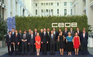 Su Majestad el Rey con las autoridades y personalidades asistentes a la cena © Casa de S.M. el Rey http://www.casareal.es/ES/Actividades/Paginas/actividades_actividades_detalle.aspx?data=13248