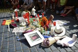 HOMENAJE ATENTADOS TERRORISTAS 18 DE AGOSTO BARCELONA Y CAMBRILS.-, ESPAÑA