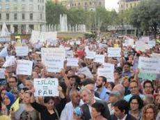 MANIFESTACION CONTRA EL TERRORISMO BARECELONA AGOSTO 2017