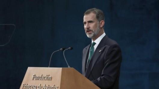 REY FELIPE VI DISCURSO PRINCIPESA DE ASTURIAS 2017 A CATALUÑA