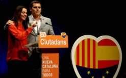 """INES ARRIMADAS EN CARRERA PRESIDENCIABLE AL GOVERNT CATALAN POR CIUDADANOS, (Cs) ELECCIONES AUTONOMICAS EXTRAORDINARIAS """"21D"""" 21 DE DICIEMBRE DE 2017, PRESENTADA Y ACOMPAÑADA POR EL PRESIDENTE DE """"CIUDADANOS"""" ALBERT RIBERA.-"""