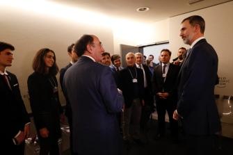 © Casa de S.M. el Rey Su Majestad el Rey con personalidades del mundo empresarial español que participan en el Foro http://www.casareal.es/ES/Actividades/Paginas/actividades_actividades_detalle.aspx?data=13431
