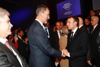 © Casa de S.M. el Rey Su Majestad el Rey recibe el saludo del Presidente de la República Francesa, Emmanuel Macron http://www.casareal.es/ES/Actividades/Paginas/actividades_actividades_detalle.aspx?data=13431