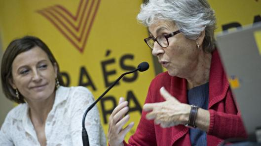FORCADEL PTE DE ANC Y CASALS PTE DE OMNIUM CULTURA CAMPAÑA POR EL 9N