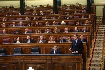 España ha vivido con la Constitución la etapa de mayor progreso y bienestar. Espero que la situación de Cataluña se normalice pronto, juntos avanzamos hacia un futuro mejor. #SesióndeControl