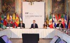 """Su Majestad el Rey preside la CLXIII reunión del Directorio de CAF-Banco de Desarrollo de América Latina © Casa de S.M. el Rey ...""""...""""Me gustaría subrayar ante ustedes la especial relación económica entre España y el conjunto de Iberoamérica. En los últimos diez años, los flujos comerciales entre ambas se han incrementado en un 46%, cifra de la que nos sentimos muy orgullosos, y estamos seguros que continuará aumentando en los próximos años"""". SM Rey Felipe VI"""