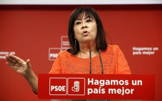 NARBONA COMPARECE TRAS REUNIÓN PEDRO SÁNCHEZ Y PABLO CASADO
