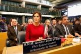 """© Casa S.M. el Rey Doña Letizia en la primera fila durante la Ceremonia del """"Día Mundial de la Alimentación"""" Sede de FAO. Roma, 16.10.2018 http://www.casareal.es/ES/Actividades/Paginas/actividades_actividades_detalle.aspx?data=13731"""