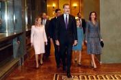 Sus Majestades los Reyes a su llegada al Instituto Cerventes Sede del Instituto Cervantes. Madrid, 31.10.2018http://www.casareal.es/ES/Actividades/Paginas/actividades_actividades_detalle.aspx?data=13758